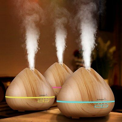 Easehold Humidifier Essential Oil Diffuser LED Ultrasonic Aroma Air Purifier【UK】