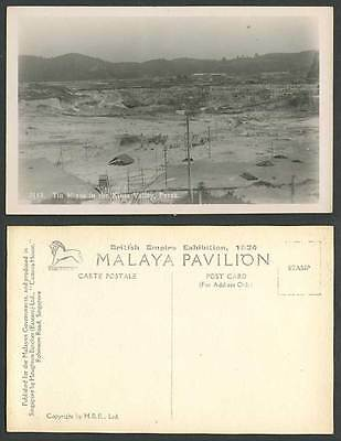 Perak Tin Mines Kinta Valley Mining, British Empire Exhibition 1924 Old Postcard
