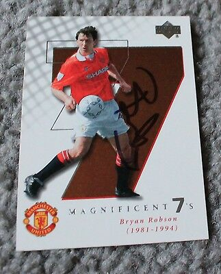 BRYAN ROBSON (Manchester United FC) Hand SIGNED 'Upper Deck' Trade CARD