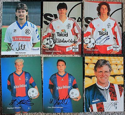 Bundle of GERMAN FOOTBALL Hand SIGNED 6x4 Photo Cards x6 BAYER LEVERKUSEN