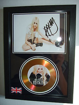 The  Pretty Reckless   Signed Framed  Gold   Disc    Display