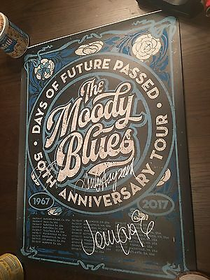 The Moody Blues Autographed Concert/Tour Poster