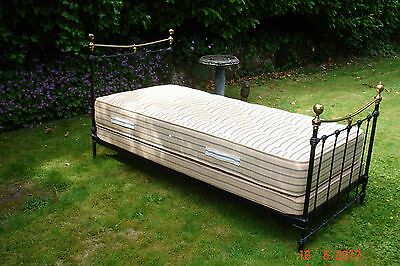 Antique Single Bed in Iron and Brass