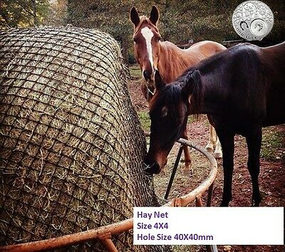 LARGE Slow-Feeder-Hay-Net-Bag-4x4-Round-Bale-Steady Horse Hay Net 40X40 Durable