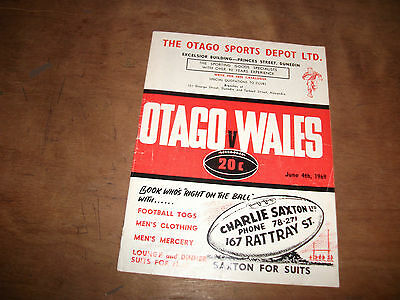OTAGO  V WALES 4th JUNE 1969
