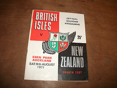 BRITISH LIONS V NEWZEALAND 4thTEST 14th AUG 1971