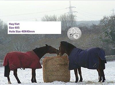 LARGE Slow-Feeder-Hay-Net-Bag-4x5-Round-Bale-Steady Horse Hay Net 40X40 Netting