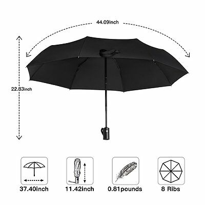 Compact Folding Automatic Travel Umbrella Auto Open Close Waterproof Windproof
