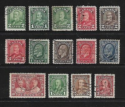 CANADA - mixed collection, 1928-1935 King George V, KGV