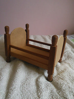 dolls wooden bed