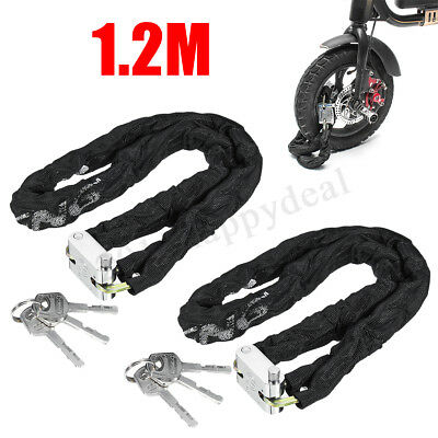 2 x HEAVY DUTY MOTORBIKE MOTORCYCLE SCOOTER CYCLE MOTOR BICYCLE CHAIN PAD LOCK