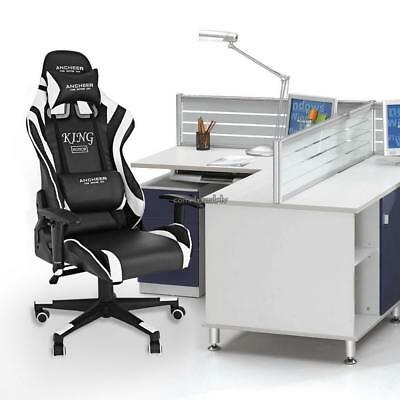 New Luxury Leather Game/Racing Office Desk Swivel Computer Chair Massage