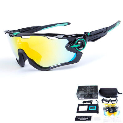 2017 Brand New 5 Pair Lens Polarized UV 400 Cycling Glasses Bicycle Sunglasses