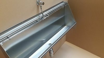 Stainless Steel Urinal (Mains supply) - 1.2 METRE *  No need for cistern