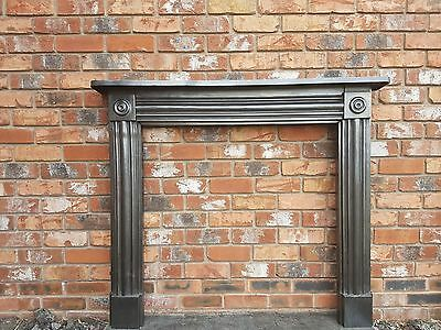 129 Cast Iron Surround Victorian Stove Log Burner Antique Fireplace Fire Old
