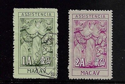 MACAU, Macao - 1945 Charity Tax stamps, Assistencia