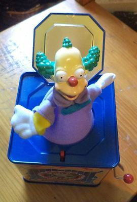Simpsons  2002 Rocket USA tin toy Krusty Who Do You Love Jack in the box figure
