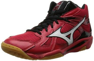 New MIZUNO Japan Volleyball Shoes WAVE ODEEN MID V1GA1655 Red & White & Black