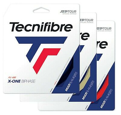 Tecnifibre X-ONE BIPHASE Tennis String - 12m - Red or Natural - Free UK P&P