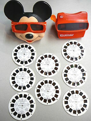Two View-Masters - Mickey Mouse & View-Master 3D with 8 Reels