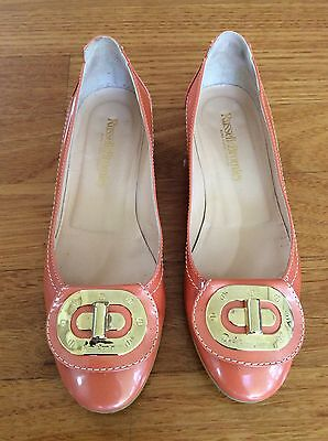 Russell &  Bromley Apricot Patent Flats Size 39