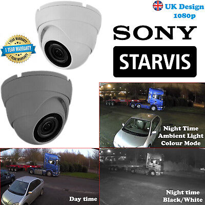 1080p Sony Starvis Dome Camera 1080P AHD HD TVI 2.4MP Varifocal Night UK spec