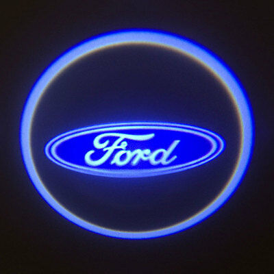 2pcs Car LED Door Courtesy Laser Logo Projector Shadow Light for Ford Bright