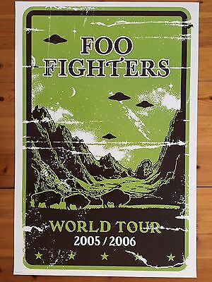 Foo Fighters,world Tour 2005/2006 Rare 2005 Poster