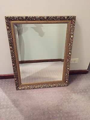 Vintage Gilded Mirror With Bevelled Edge