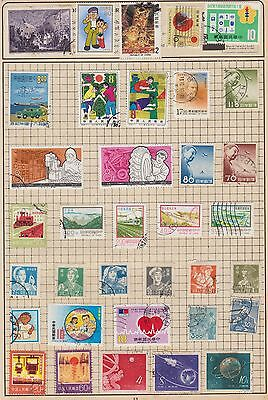 A Selection Of China  Stamps  From Old Album Wk10 Page 40