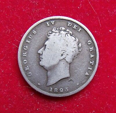 1826 George IV silver Shilling scarce coin good condition bulk