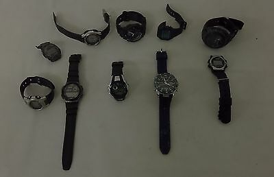 10 X Mixed Brand Gents Watches Spares Or Repairs Faulty St138