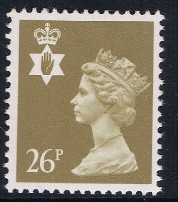GB QEII Northern Ireland. SG NI61 26p Drab PP. Regional Machin Stamp MNH