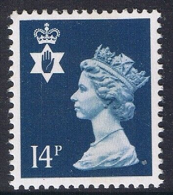 GB QEII Northern Ireland. SG NI39 14p Deep Blue CB. Regional Stamp MNH
