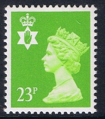 GB QEII Northern Ireland. SG NI56 23p Bright Green PP. Regional Stamp MNH
