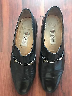 Vintage Men's Gucci loafers Dress Shoes Sz 44
