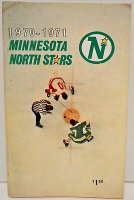 Minnesota North Stars 1970-71 Hockey Team Media Guide Rare Collectible