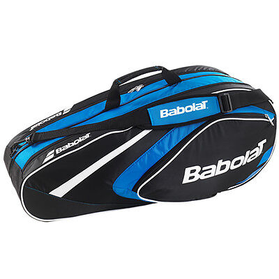 Babolat Club Line Tennis Racquet Holder Back Pack Bag 6 Blue New Free Shipping