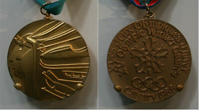 Calgary Canada 1988 Winter Olympic Gold Medal with ribbon!