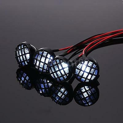 RC Car Roof LED Light 4 Spotlight for 1/10 RC Crawler Axial SCX10 RC4WD D90