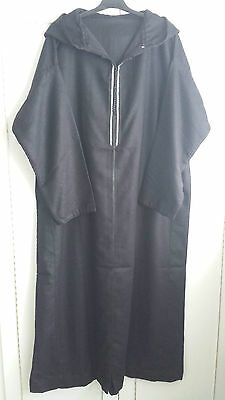 Moroccan Mens Jilbab, Jubba, Djellaba, Kaftan, Islamic Dress, Black, Blue, Grey