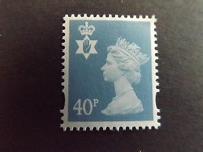 GB QEII Northern Ireland SG NI84 40p Deep Azure 2B Regional Definitive Stamp MNH