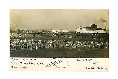 Rare RPPC 20,000 Bales of Cotton at Cotton Compress in New Decatur, Alabama 1906