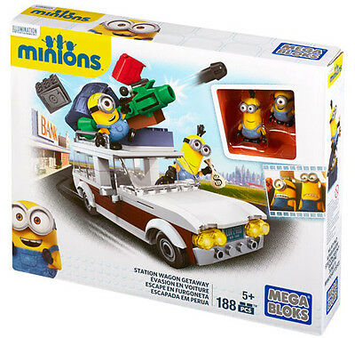 Mega Bloks Despicable Me Station Wagon Getaway Minions Made Playset Blocks Cnf56