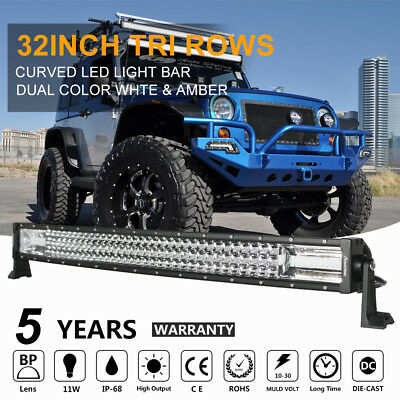 30inch/32INCH 810W CREE Curved LED Work Light Bar Flood Spot Combo Offroad SUV