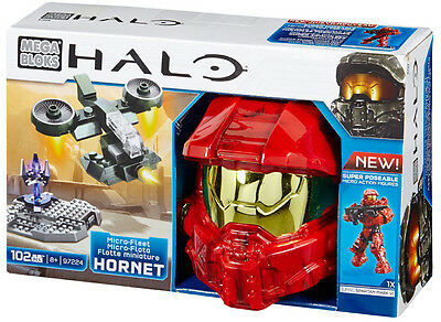 Mega Bloks Halo Micro-Fleet Hornet Assault Collectible Helmet Brand New 97224