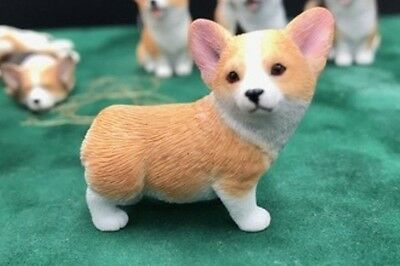 Resin mini Standing Corgi Dog Puppy Mini Figurine Figure Model 4cm Free Shipping