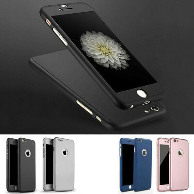CASE COVER + TEMPERED GLASS PROTECTION INTEGRAL 360° for iPhone 6/6 7/7 8