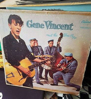 Gene Vincent and the Blue Caps rare 1957 LP T 811 turquoise label US pressing.