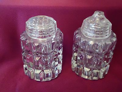 Crystal Glass Salt And Pepper Shaker`s Vgc.
